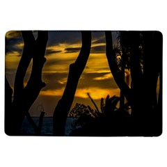 Silhouette Sunset Landscape Scene, Montevideo   Uruguay Ipad Air Flip by dflcprints
