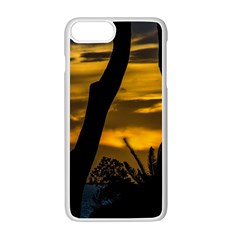 Silhouette Sunset Landscape Scene, Montevideo   Uruguay Iphone 7 Plus Seamless Case (white) by dflcprints