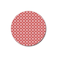 Df Persimmon Rubber Coaster (round)  by deformigo