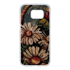 Old Embroidery 1 1 Samsung Galaxy S7 Edge White Seamless Case by bestdesignintheworld