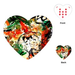 Lilies In A Vase 1 4 Playing Cards Single Design (heart) by bestdesignintheworld