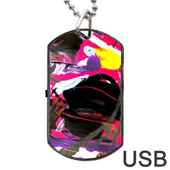 Consolation 1 1 Dog Tag Usb Flash (one Side)