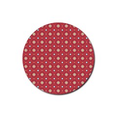Df Rafflesia Rubber Round Coaster (4 Pack)  by deformigo