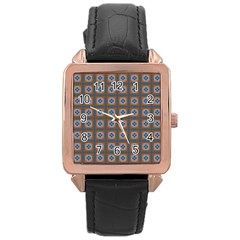 Df Merrival Rose Gold Leather Watch  by deformigo