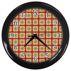 Df Hackberry Grid Wall Clock (black) by deformigo