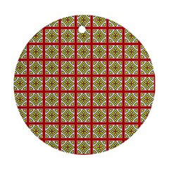 Df Hackberry Grid Round Ornament (two Sides) by deformigo