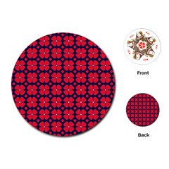 Df Clematis Playing Cards Single Design (round) by deformigo