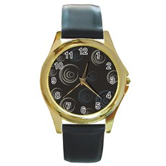 Rounder Iii Round Gold Metal Watch