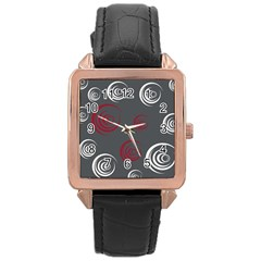 Rounder Iv Rose Gold Leather Watch