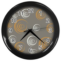 Rounder Vi Wall Clock (black)