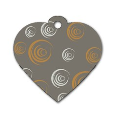 Rounder Vi Dog Tag Heart (two Sides)