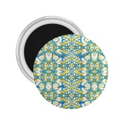 Colored Geometric Ornate Patterned Print 2 25  Magnets by dflcprintsclothing