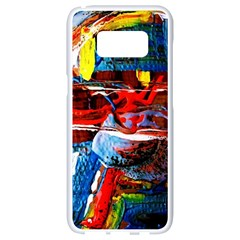 Red Aeroplane 6 Samsung Galaxy S8 White Seamless Case by bestdesignintheworld