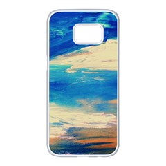 Skydiving 1 1 Samsung Galaxy S7 Edge White Seamless Case by bestdesignintheworld