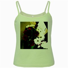 Roses 1 2 Green Spaghetti Tank by bestdesignintheworld
