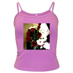 Roses 1 2 Dark Spaghetti Tank by bestdesignintheworld