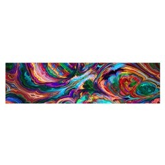 Seamless Abstract Colorful Tile Satin Scarf (oblong)