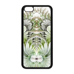 Fractal Delicate White Background Iphone 5c Seamless Case (black)