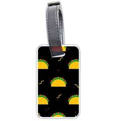 Festive Seamless Pattern With National Taco Food Luggage Tag (two Sides) by Wegoenart