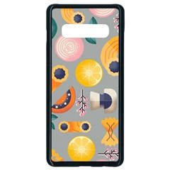 Italian Food Seamless Pattern Samsung Galaxy S10 Plus Seamless Case (black) by Wegoenart