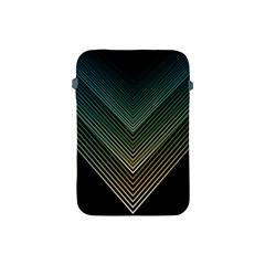 Abstract Colorful Geometric Lines Pattern Background Apple Ipad Mini Protective Soft Cases by Wegoenart