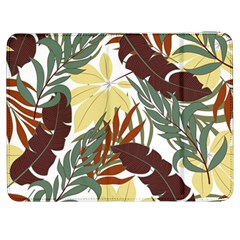 Botanical Seamless Tropical Pattern With Bright Red Green Plants Leaves Samsung Galaxy Tab 7  P1000 Flip Case by Wegoenart