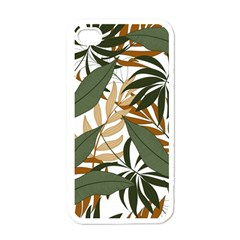Botanical Seamless Tropical Pattern With Bright Green Yellow Plants Leaves Iphone 4 Case (white)