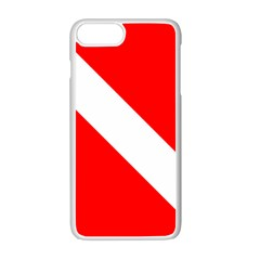 Diving Flag Iphone 7 Plus Seamless Case (white) by FlagGallery