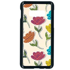 Pattern With Paper Tulips Samsung Galaxy S10e Seamless Case (black)