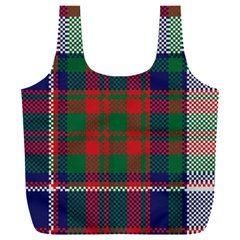 British Tartan Check Plaid Seamless Pattern Full Print Recycle Bag (xxl)