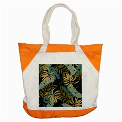 Fashionable Seamless Tropical Pattern With Bright Red Blue Plants Leaves Accent Tote Bag by Wegoenart