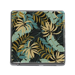 Fashionable Seamless Tropical Pattern With Bright Red Blue Plants Leaves Memory Card Reader (square 5 Slot) by Wegoenart