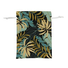 Fashionable Seamless Tropical Pattern With Bright Red Blue Plants Leaves Lightweight Drawstring Pouch (l) by Wegoenart