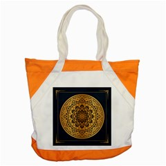 Luxury Mandala Background With Golden Arabesque Pattern Arabic Islamic East Style Premium Vector Accent Tote Bag