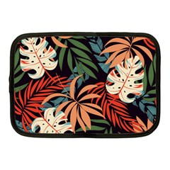 Fashionable Seamless Tropical Pattern With Bright Pink Yellow Plants Leaves Netbook Case (medium) by Wegoenart