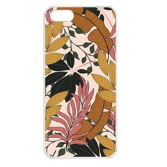 Fashionable Seamless Tropical Pattern With Bright Pink Green Flowers Iphone 5 Seamless Case (white) by Wegoenart