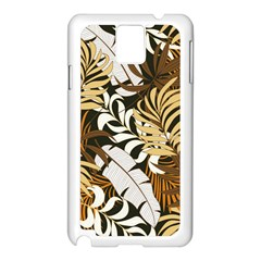 Botanical Seamless Tropical Pattern With Bright Red Yellow Plants Leaves Samsung Galaxy Note 3 N9005 Case (white) by Wegoenart