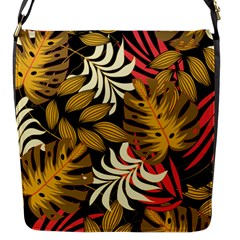 Original Seamless Tropical Pattern With Bright Reds Yellows Flap Closure Messenger Bag (s)