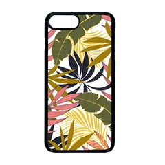 Fashionable Seamless Tropical Pattern With Bright Pink Green Flowers Iphone 7 Plus Seamless Case (black) by Wegoenart