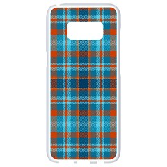 Tartan Scotland Seamless Plaid Pattern Vintage Check Color Square Geometric Texture Samsung Galaxy S8 White Seamless Case