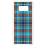 Tartan Scotland Seamless Plaid Pattern Vintage Check Color Square Geometric Texture Samsung Galaxy S8 White Seamless Case Front