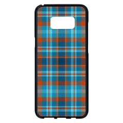 Tartan Scotland Seamless Plaid Pattern Vintage Check Color Square Geometric Texture Samsung Galaxy S8 Plus Black Seamless Case