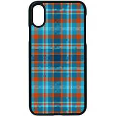 Tartan Scotland Seamless Plaid Pattern Vintage Check Color Square Geometric Texture Iphone X Seamless Case (black)