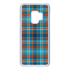 Tartan Scotland Seamless Plaid Pattern Vintage Check Color Square Geometric Texture Samsung Galaxy S9 Seamless Case(white)