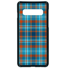Tartan Scotland Seamless Plaid Pattern Vintage Check Color Square Geometric Texture Samsung Galaxy S10 Seamless Case(black)