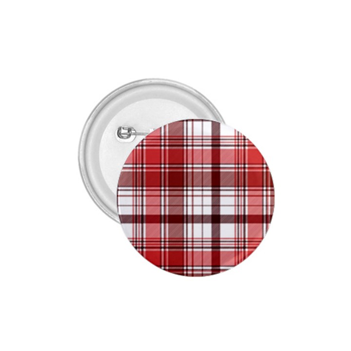 Red Abstract Check Textile Seamless Pattern 1.75  Buttons