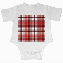Red Abstract Check Textile Seamless Pattern Infant Creepers