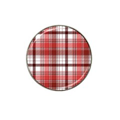 Red Abstract Check Textile Seamless Pattern Hat Clip Ball Marker (4 Pack)
