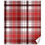 Red Abstract Check Textile Seamless Pattern Canvas 8  x 10  10 x8  Canvas - 1