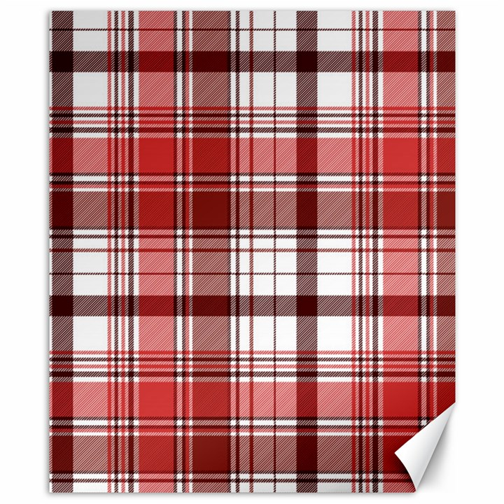 Red Abstract Check Textile Seamless Pattern Canvas 8  x 10